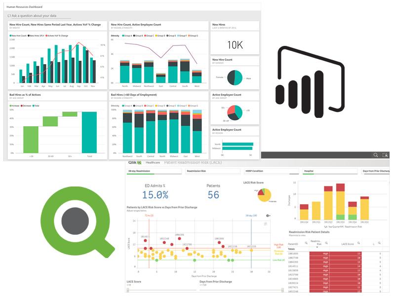 Power BI vs Qlik Sense visualisations